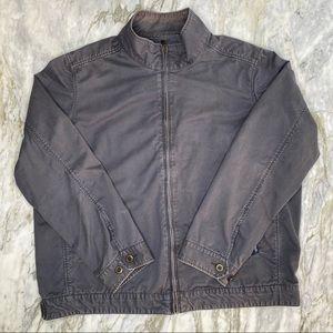 CRAZY SHIRTS Cotton Zip Up Distressed Jacket XXL